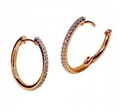 Boucles d'oreilles Beheyt - or rose et diamants - 53362/A/2