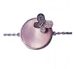 Bracelet Morganne Bello papillon - or blanc - 2042WC1C1B