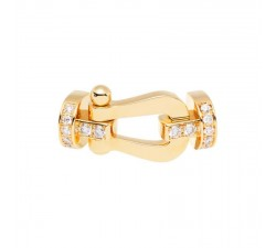 Manille Fred Force 10 en or jaune semi pavé diamants blancs - 0B0028