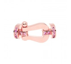 Manille Fred Force 10 en or rose semi pavé saphirs roses - 0B0038