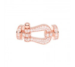 Manille Fred Force 10 en or rose pavé diamants blancs - 0B0049