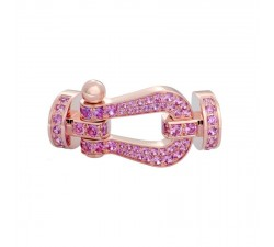 Manille Fred Force 10 en or rose pavé saphirs - 0B0066