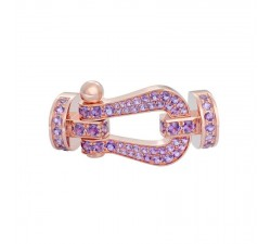 Manille Fred Force 10 en or rose pavé améthystes - 0B0067