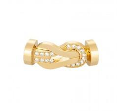 Manille Fred 8°0 en or jaune semi pavé diamants blancs - 0B0098