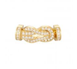 Manille Fred 8°0 en or jaune pavé diamants blancs - 0B0101