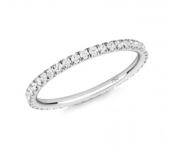 Skinny ring Verifine eternity R01 white gold white diamond