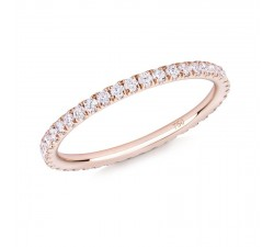 Skinny ring Verifine eternity R03 pink gold white diamond