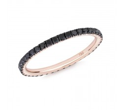 Skinny ring Verifine eternity R06 pink gold black diamond