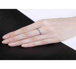 Bague Verifine éternité fine R07 or gris saphir bleu