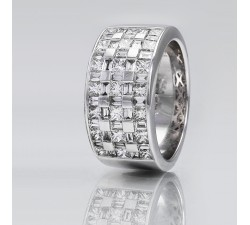 Bague One More - Or gris 53 diamants - 45070/A