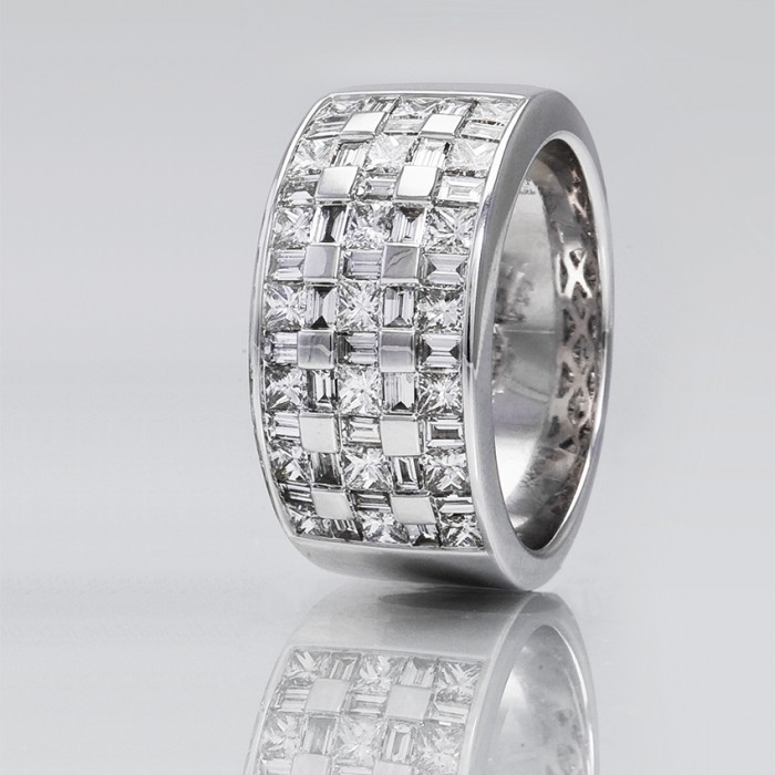 meilleure sélection 4bd58 26284 Bague One More - Or gris 53 diamants.