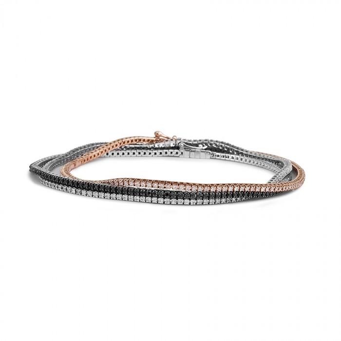 info pour 00bbc d8d0f Bracelet One More - rivière or gris et diamants noir - Joaillerie JO'S