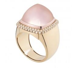 Bague Fred - Pain de Sucre Interchangeable - Or jaune pavé diamants blanc - 4B0444