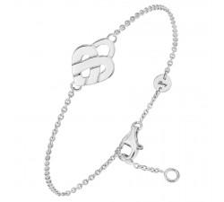 Bracelet Poiray - Coeur Entrelacé - Or gris - 628600