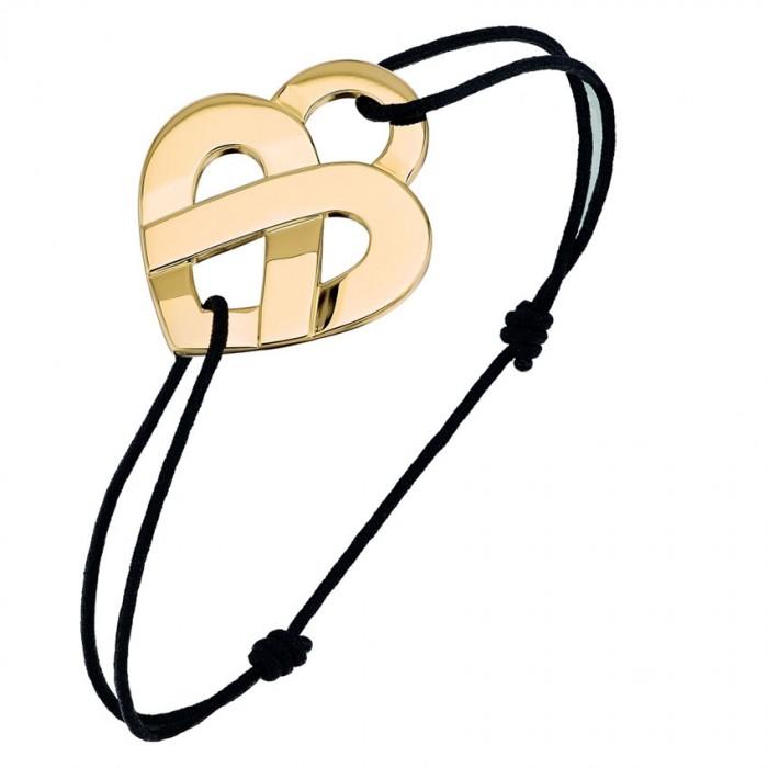 Bracelet Poiray - Coeur Entrelacé - Or jaune - Petit modèle - 528216
