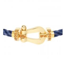 Bracelet Fred - Force 10 - Or jaune semi pavée grenats spessartites - 0B0043