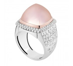 Bague Fred - Pain de Sucre Interchangeable - Or gris pavé pluie diamants blanc - 4J0682