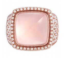 Bague Fred - Pain de Sucre Interchangeable - Or rose pavé pluie diamants blanc - 4J0683