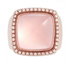 Bague Fred - Pain de Sucre Interchangeable - Or rose pavé diamants blanc - 4B0445