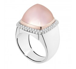 Bague Fred - Pain de Sucre Interchangeable - Or gris pavé diamants blanc - 4B0446