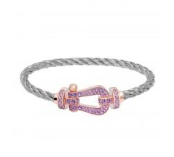 Bracelet Fred - Force 10 - Or rose pavée améthystes - 0B0067