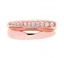 Bague Fred SUCCESS Petit Modèle - Or rose et diamants - 4B0443