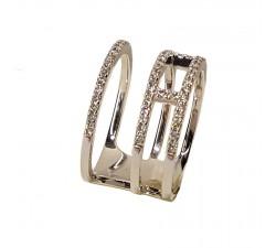 Bague JO'S - 53919A32 - 3 anneaux liés - or blanc