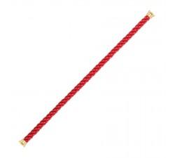 Cordon Fred en corderie rouge embout plaqué or jaune 1 tour - ref: 6B0157