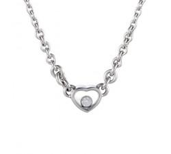 Collier Chopard Happy Heart 817792-1001 détails du pendentif