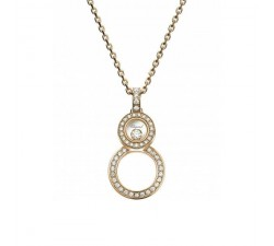 Pendentif Chopard Happy 8 or rose et diamants 799209-5003