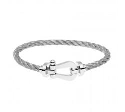 Bracelet Fred - Force 10 - Or gris - 0B0005-6B0109