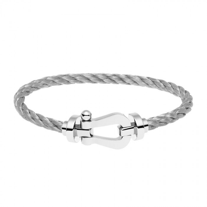 Fred Bracelet Force 10 gray gold with steel