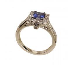 Ring JO'S - square saphire - COC15