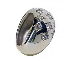 Ring JO'S - inlaid stars - 37319A