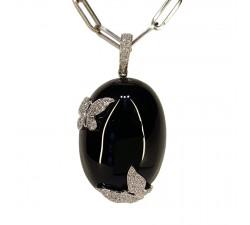 Necklace JO'S - butterfly onyx - P560ODG
