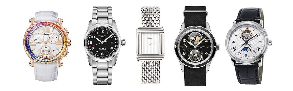 All the watches by our biggest swiss partners houses